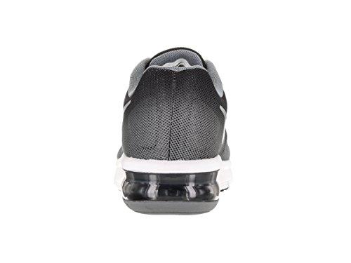 Nike Air Max Sequent (Gs), Zapatillas de Running para Hombre Negro (Negro (black/metallic silver-wolf grey-white))