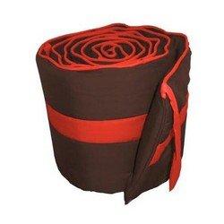 Solid Colored Stripe Cradle Bumper, color: Brown/Orange, size: 18x36