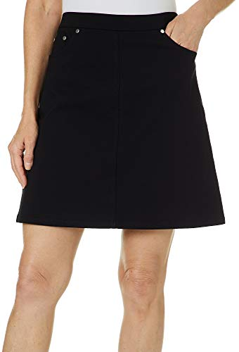 Hearts of Palm Womens Essential Solid Tech Stretch Skort 18 Black