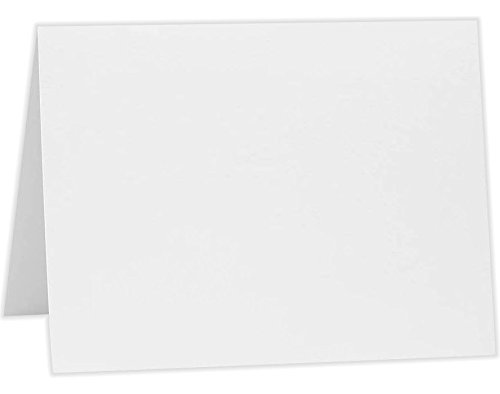 A2 Folded Card (4 1/4 x 5 1/2) - 80lb. Bright White (50 Qty) | Perfect for Invitations, Announcements, Sending Cards | A2FW-50