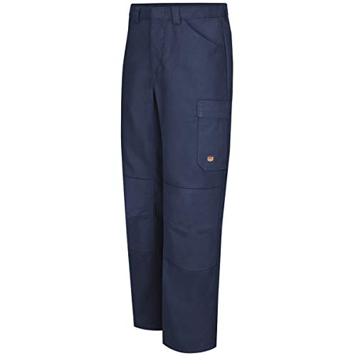 Red Kap 44'' X 32'' Navy 8 Ounce Polyester/Cotton/Spandex Pants With Button Closure by BULWARKRED KAP (Image #1)