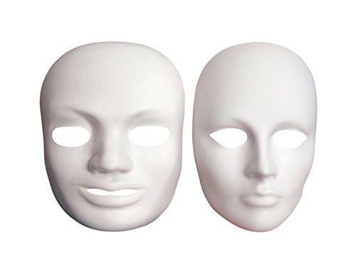 [Creativity Street Plain Plastic Male Mask] (Plain White Mask Costume)