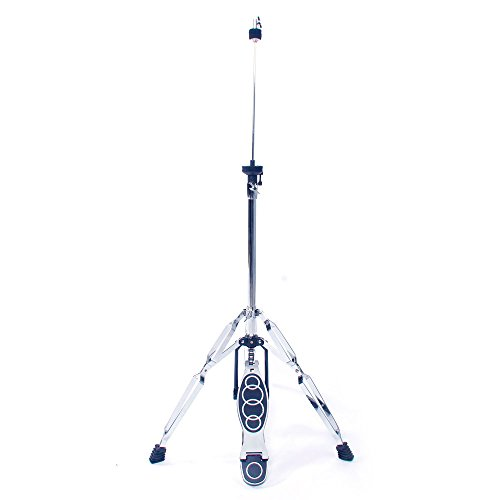 - Professional Pedal Control Style Drum High Hat Cymbal Stand with Pedal, adjustable, Silver & Black