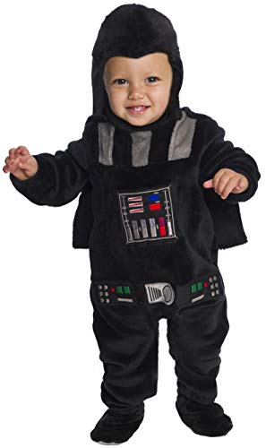 Rubie's Baby Star Wars Classic Darth Vader Deluxe Plush Costume Romper, Color As Shown, Infant -