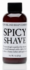 Plum Island Spicy Shave - All Natural Shaving Gel made in Massachusetts