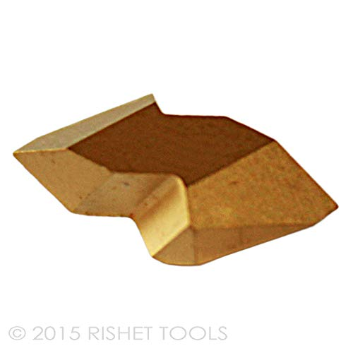 RISHET TOOLS 13584 NTP-2L C5 Multi Layer TIN Coated Notch Style Threading Carbide Inserts Box of 10