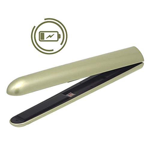 Tiny Flat Iron Mini Cordless Straightener YIXIS Titanium 0.5 Inch Plates Straightening Hair Portable For Travel ()