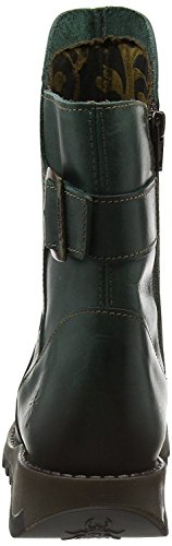 Fly london Sien Petrol Cuir Court Bottes Chaussures