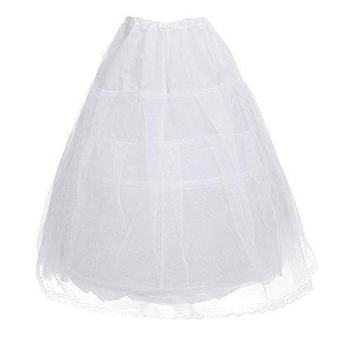 Dei Fiore Sotto Vestito Tiaobug Ragazze Il Nozze Crinolina 2 Hoop Sottoveste Ragazza Capretti Costume Di IBqw6