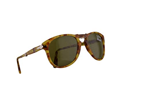Persol 714 Folding Sunglasses Yellow Tortoise w/Green Lens 52mm 10614E PO 0714 PO0714 ()