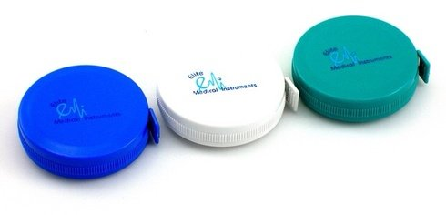 Retractable Fiberglass Tape Measure - 3 PACK: Retractable Medical Body Tape Measure White, Teal, and Royal Blue