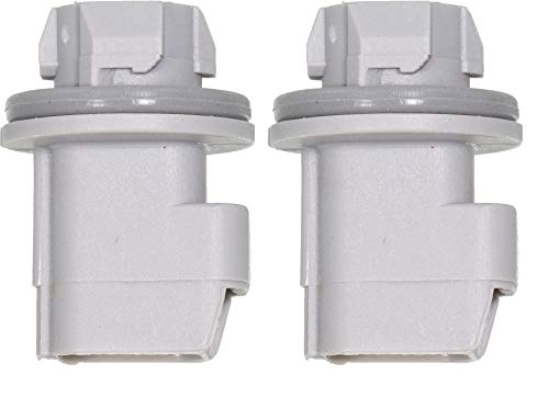 - APDTY 116678x2 Pack of 2 Light Bulb Plastic Sockets Side Marker Lamp Back Up Light License Lamp Light (Match Your Item To The Image Provided; Replaces F81Z-13411-AA, F81Z13411AA, S1836, 645-550)