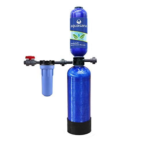 Aquasana SimplySoft Salt-Free Whole House Water Descaler Tank with Pre-Filter and Installation Kit