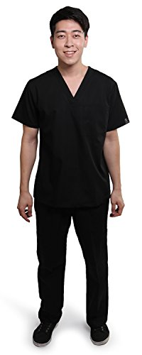 Price comparison product image Dress A Med Mens Classic Scrubs Set Black Medium