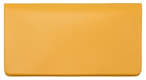 Sunburst Orange Vinyl Checkbook Cover