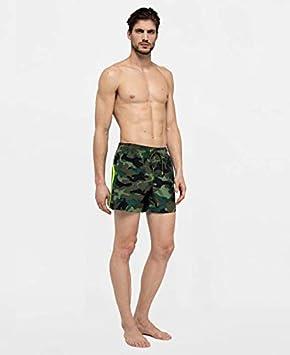 Sundek M504BDP153-575 Boardshort Elastic Waist Elastico in Vita Deep Forest Camouflage