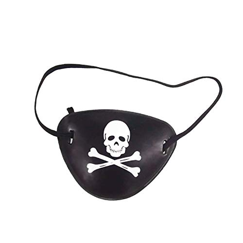 Pirate Eye Patch - Sell Adult Skull Pirate Eye Patch Cool Carnival Mask Crossbone Halloween Kids Children Toy Craft - Carnival Toddler Sword Favors Patch Through Single Pack Girl Disney Acce -