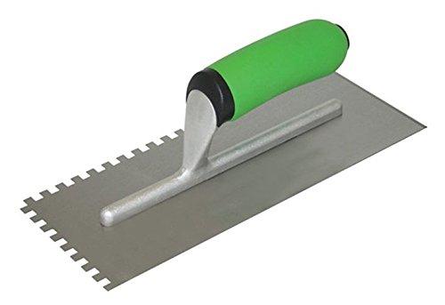 3//4-Inch Kraft Tool HC420PFCC Hi Craft U-Notch Trowel with Soft Grip Handle