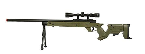 Well SR22 Airsoft Sniper Rifle Airsoft Gun (OD / Scope & Bipod)