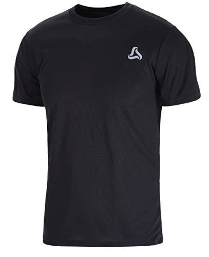Super Dry Running T-shirt - SILKWORLD Men's Mesh Quick-Dry Short Sleeve Workout Shirt,Black, XX-Large