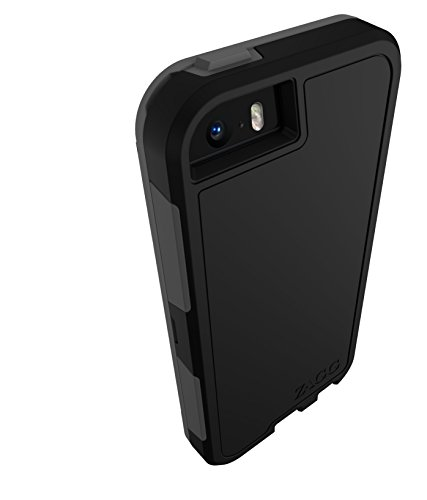 ZAGG InvisibleShield Arsenal Case and Screen Protector for Apple iPhone 5 / iPhone 5S / iPhone 5SE - Black