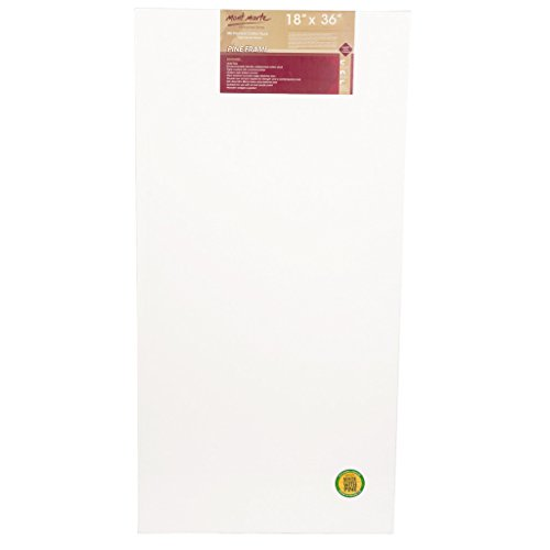 Mont Marte Stretched Canvas (pack of 2), Double Primed, 18 X 36 inches, Canvas Great for Students to Professional Artists