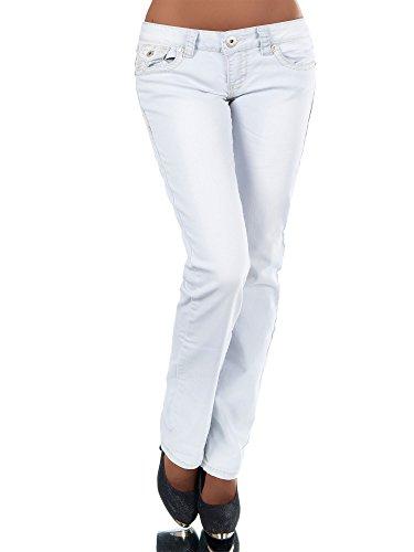 Basic Cut Azzurro Donna Diva Jeans Boot jeans nfT1HS