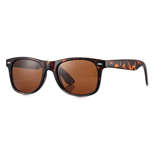 Tortoise Frame Brown (MLC Eyewear Vintage 80's Retro Classic Horn Rimmed Polarized Unisex Sunglasses - Tortoise Frame)