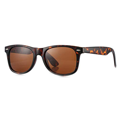 MLC Eyewear Vintage 80's Retro Classic Horn Rimmed Polarized Unisex Sunglasses - Tortoise Frame