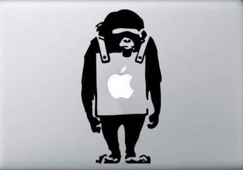 MacBook Trucks SUPERSTICKI Banksy Monkey Vinyl Decal Sticker Skin for Apple MacBook Pro Air Mac Air Cars Smooth surf virtually Any Hard laptops Tool Boxes Die Cut Vinyl Decal for Windows