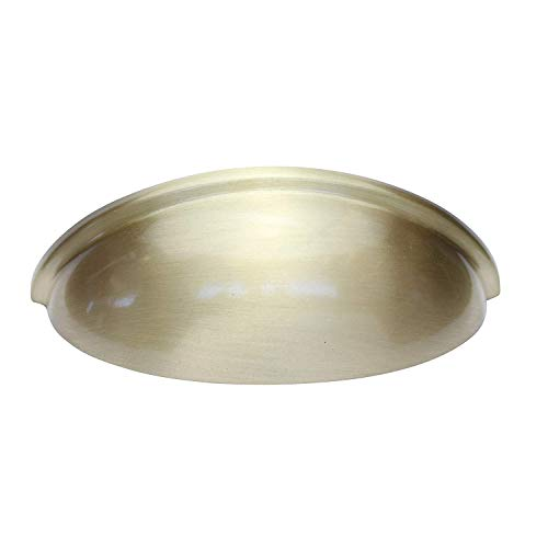 Hamilton Bowes Satin Brass Cabinet Hardware Cup Pull 3
