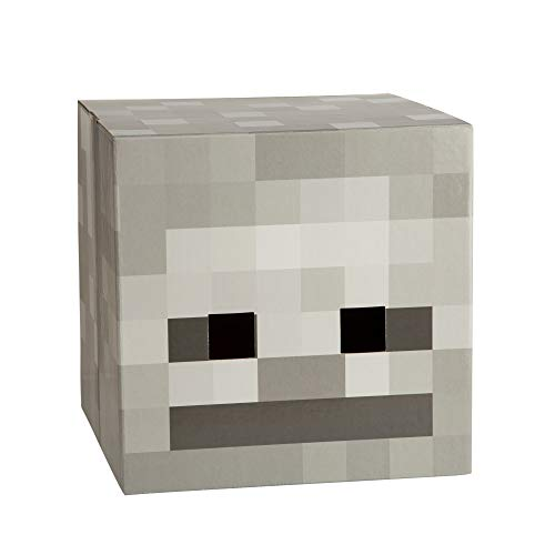 JINX Minecraft Skeleton Head Costume Mask, Cardboard,