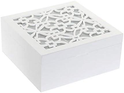 Dream Hogar Caja te infusiones Tapa Cristal azulejo Madera MDF ...