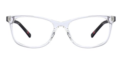 TIJN Vintage Women Square Cat Eye Glasses with Clear Lens Eyewear Frames