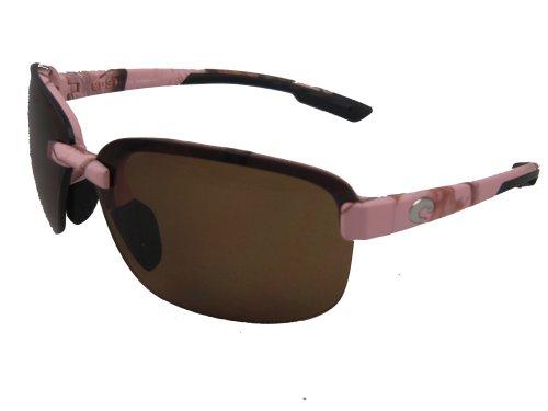 Costa Del Mar Austin Adult Polarized Sunglasses, Realtree AP Pink/Amber 580Plastic, - Costa Del Sunglasses Pink Mar