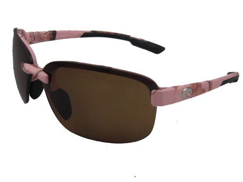 Costa Del Mar Austin Adult Polarized Sunglasses, Realtree AP Pink/Amber 580Plastic, - Austin Sunglasses