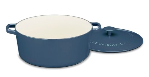 Cuisinart CI670-30BG Chef's Classic Enameled Cast Iron 7-Quart Round Covered Casserole, Provencal Blue by Cuisinart (Image #2)