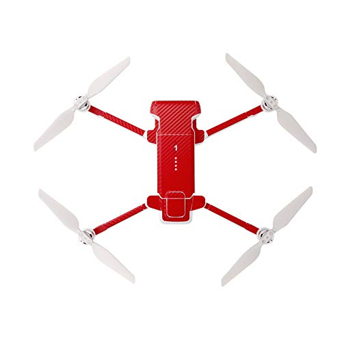 Linghang PVC Sticker for Xiaomi FIMI X8 SE / FIMI X8 SE 2020 Drone and Battery Protective Film Skins Waterproof (Red)