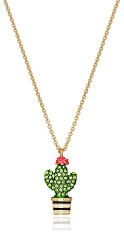 Kate Spade New York Cactus Mini Pendant Necklace - Enameled Purse Pendant