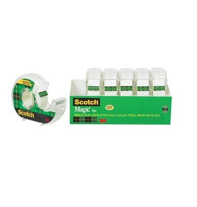 3M COMPANY SCOTCH MAGIC TAPE 3/4 X 650 6PK (Set of 3)