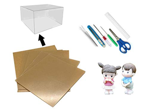 - Rylai DIY Transparent Display Box Dust-Proof Cover Dollhouse and Dollhouse Tool Set and 2 Dolls (Suit Seattle House)
