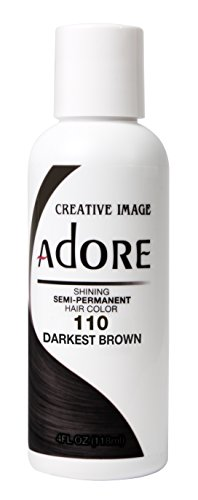 Adore Semi-Permanent Haircolor #110 Darkest Brown 4 Ounce (118ml)