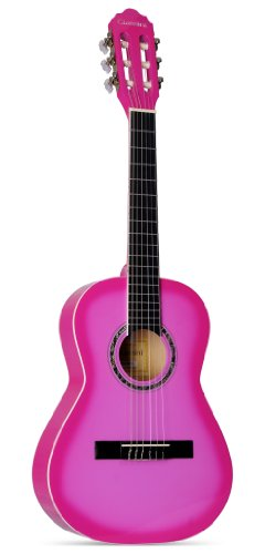 Giannini Guitars GN-R PK Maple Fingerboard Acoustic Guitar, Pink