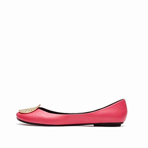 Peu Et des Ballet CWJ de Été Chaussures avec Ré Plates Plates Chaussures Profonde Chaussures Bouche Printemps faITnq1
