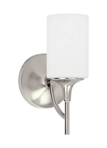 Sea Gull Lighting 44952EN3-962 One Light Wall/Bath Sconce, Brushed ()