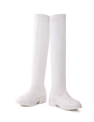De Xzz Brown Uk6 Oficina Mujer Vestido Cerrada Trabajo Sintético Casual Exterior Tacón Zapatos Punta Eu39 Botas Cn39 Y us8 Redonda Cuero Bajo 5rT5wRnq