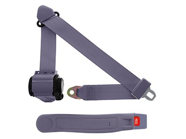 3-Point Retractable Lap & Shoulder Seat Belt, Grey, with Push Button Release