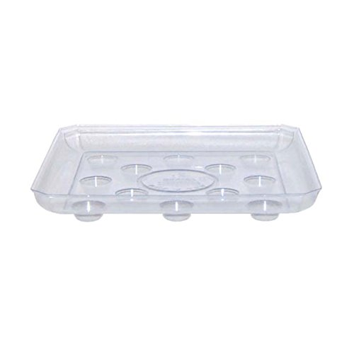 Curtis Wagner ARETT_C15 SQDS1000_1PK_1.44_25CS 710473473170 CWP SQDS-1000 Heavy Gauge Footed Square Carpet Saver Saucer, 10-Inch b, 10 Inches, Clear (Square Stand Plant)