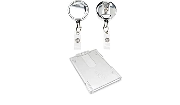 Amazon.com : ID Card It Heavy Duty Nylon Cord ID Badge Reel ...