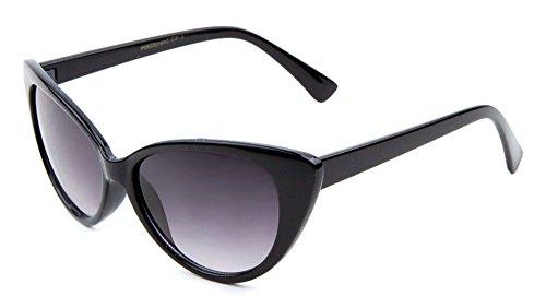 [Retro Vintage Style Cat Eye Sunglasses Chic Women's Eyeglasses Hot (Black, 55)] (Super Nerd Costume)